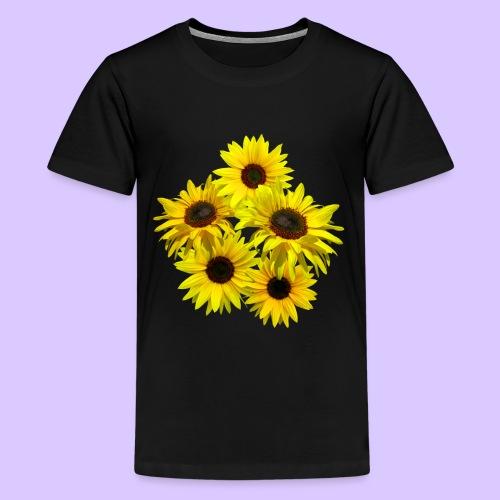 Sonnenblumenstrauss, Sonnenblume, Sonnenblumen - Teenager Premium T-Shirt