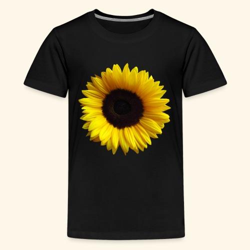 Sonnenblume, Sonnenblumen, Blume, Blüte, floral - Teenager Premium T-Shirt