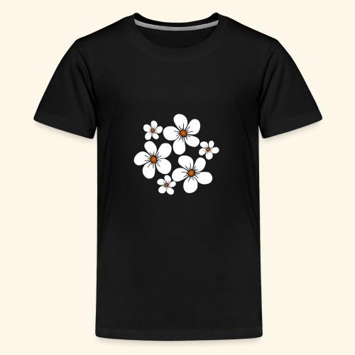 blühende weiße Blüten, Blumen, Blumenstrauß floral - Teenager Premium T-Shirt