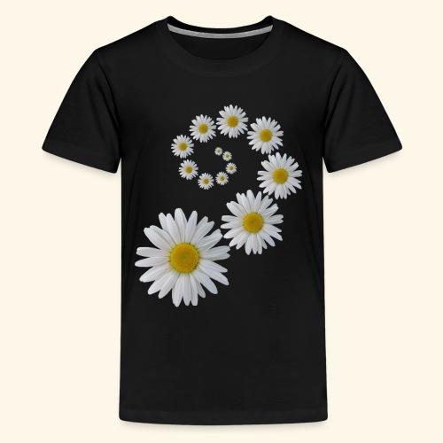 Margeriten Blume, Blumen, Blüte, floral, blumig - Teenager Premium T-Shirt