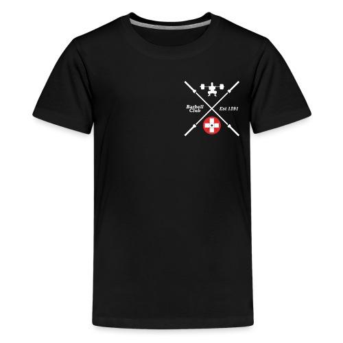 Barbell Club 1291 _ white - Teenager Premium T-Shirt