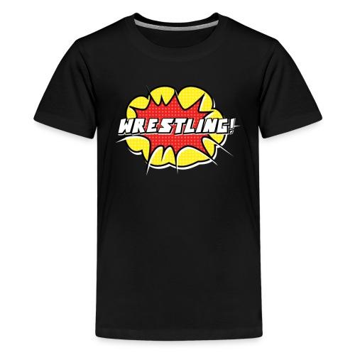 wrestling3 png - Teenage Premium T-Shirt