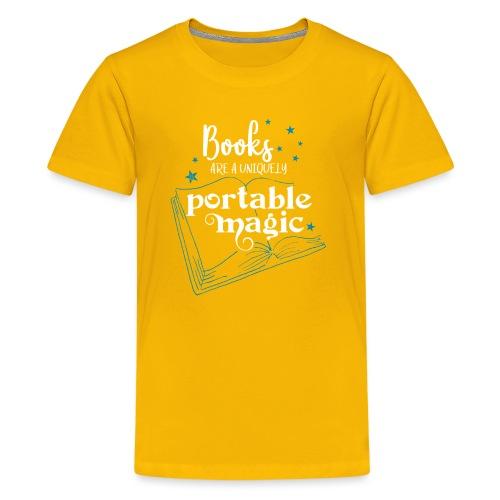 0030 books are unique magic | Magic - Teenage Premium T-Shirt