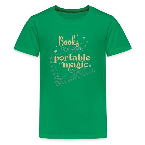 0029 books | Book | Reading | Reader | magic - Teenage Premium T-Shirt