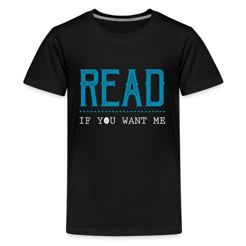 0047 reading | Desire | Eroticism | Book | bookworm - Teenage Premium T-Shirt