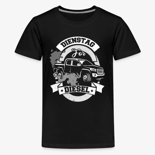 Dienstag for Diesel Fridays for Hubraum Klimakrise - Teenager Premium T-Shirt