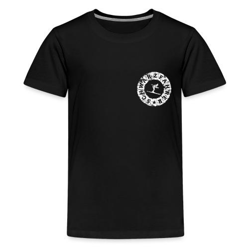 Schwarzfahrer Ski Skifahrer - Teenager Premium T-Shirt
