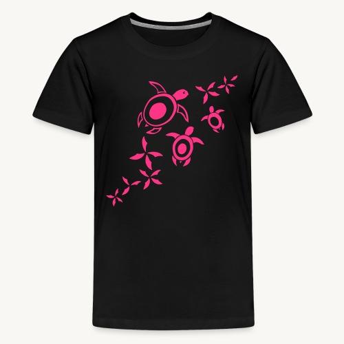 blumige Wasserschildis - Teenager Premium T-Shirt