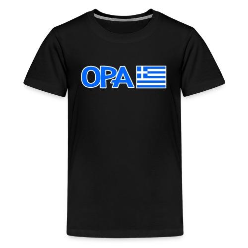Greek Opa. Greek Flag. Cool Greek Vacation - Teenager Premium T-Shirt