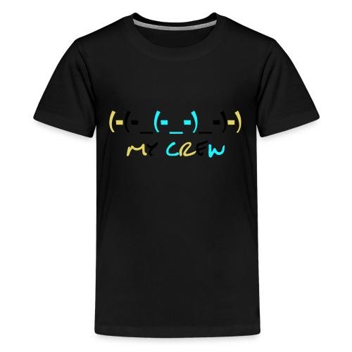 (-(-_(-_-)_-)-) - Teenage Premium T-Shirt