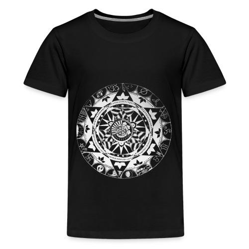 mandala1 jc white - Teenage Premium T-Shirt