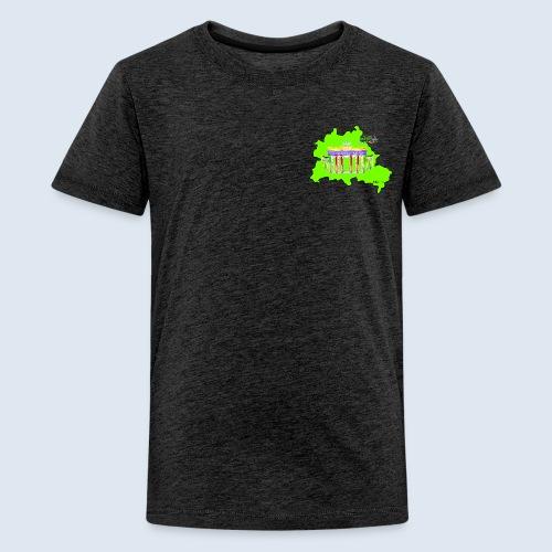 Berlin ist grün und bunt / BerlinLightShow - Teenager Premium T-Shirt