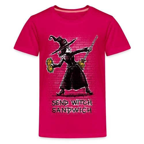 Send Witch Sandwich - Teenage Premium T-Shirt