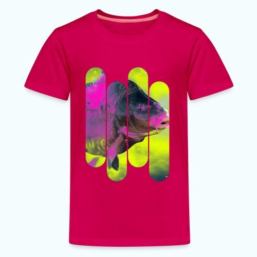 Neon colors fish - Teenage Premium T-Shirt