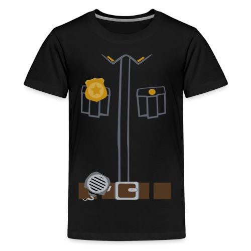 Police Costume Black - Teenage Premium T-Shirt