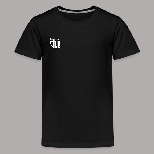 Zirkel, weiss (vorne) Zirkel, weiss (hinten) - Teenager Premium T-Shirt
