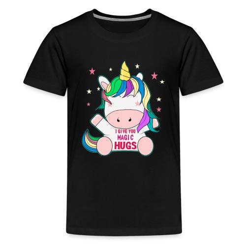 süßes Pferd Freunde sitzen Unicorn Geschenk - Teenager Premium T-Shirt