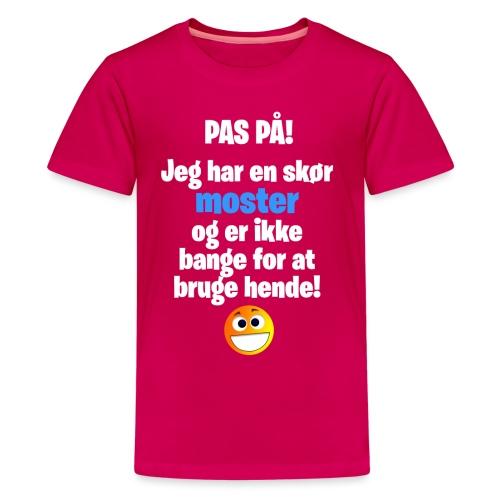 Pas På! Moster - Dreng - Teenager premium T-shirt