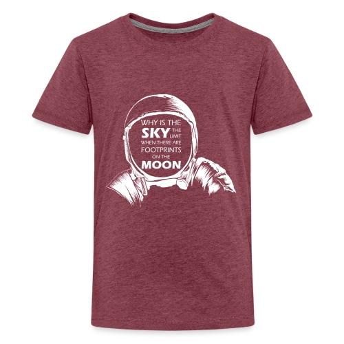 Astronaut - Footprints on the Moon - Teenager Premium T-Shirt