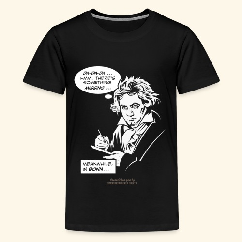 Beethoven T-Shirt Comic Fünfte Symphonie Beethoven - Teenager Premium T-Shirt