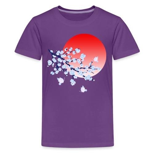 Cherry Blossom Festval Full Moon 4 - Teenager Premium T-Shirt
