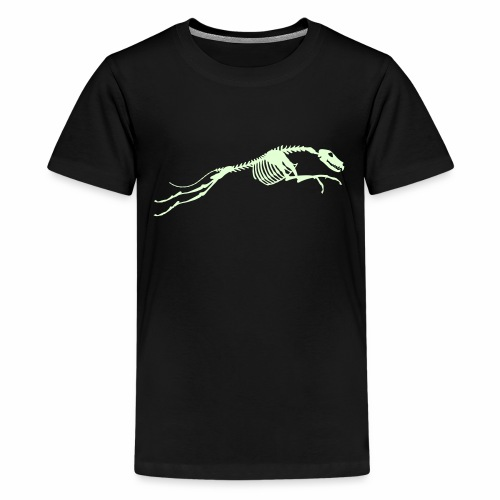 Juokse Luuranko Run Skeleton - Teinien premium t-paita