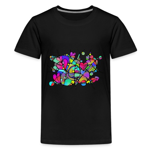 Abstrakte Kunst Neuro Art LOVE IS CRAZY 5 - Teenager Premium T-Shirt