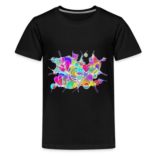 Abstrakte Kunst Neuro Art LOVE IS CRAZY 6 - Teenager Premium T-Shirt