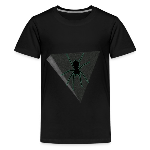 Spinne Neon-grün - Teenager Premium T-Shirt