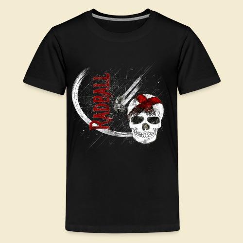 Radball | Cycle Ball Skull - Teenager Premium T-Shirt