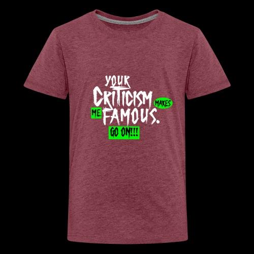 CRITICA 2 - Camiseta premium adolescente