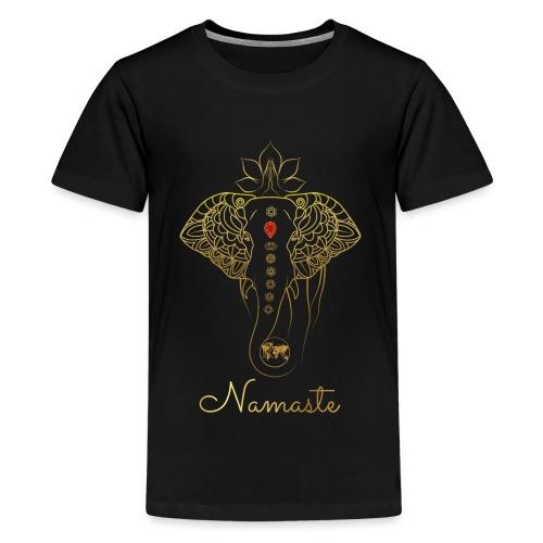 RUBINAWORLD - Namaste - Teenage Premium T-Shirt