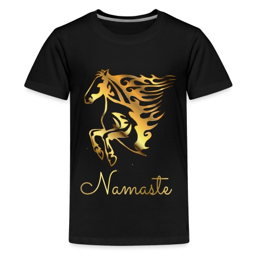Namaste Horse On Fire - Teenager Premium T-Shirt