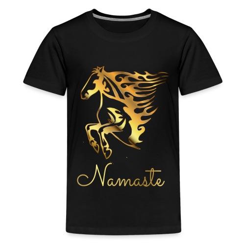 Namaste Horse On Fire - Teenager Premium T-Shirt