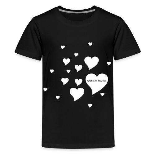 American Spanish Corazones - Camiseta premium adolescente