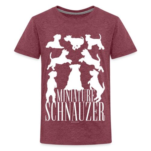 Miniature Schnauzer - Teinien premium t-paita