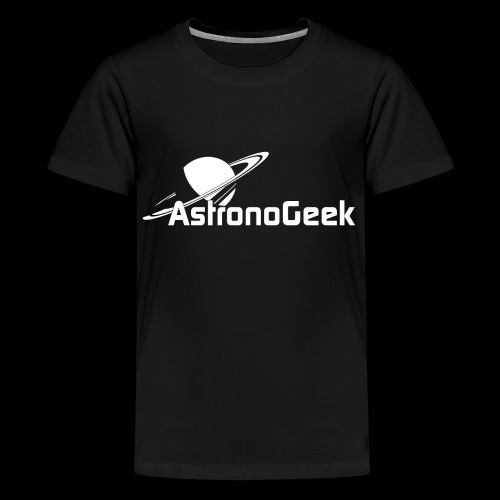 Logo AstronoGeek avec texte - T-shirt Premium Ado