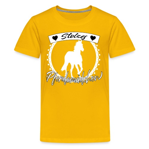 Stolzes Pferdemädchen Pferde Reiten Geschenkidee - Teenager Premium T-Shirt