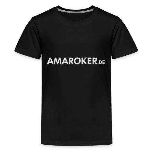 amaroker_logo_neg - Teenager Premium T-Shirt