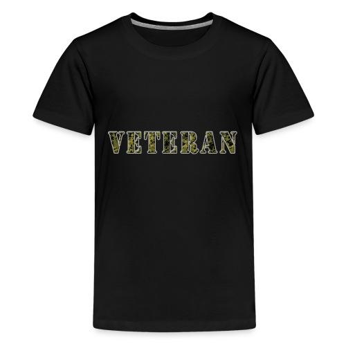 VeteranCamoM84 - Teenager premium T-shirt