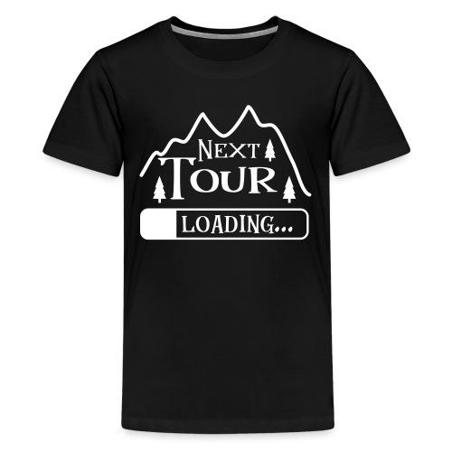Wandern Klettern Bergsteigen Tour Laden Berg Natur - Teenager Premium T-Shirt