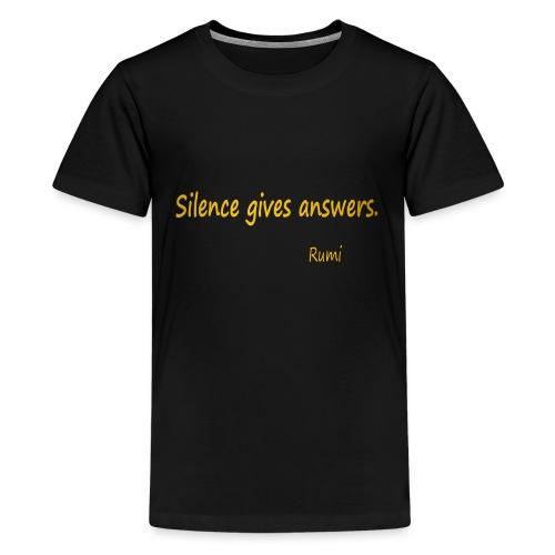 Silence - Teenage Premium T-Shirt