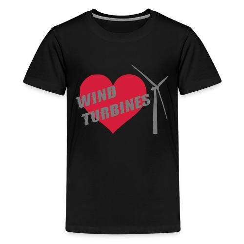 wind turbine grey - Teenage Premium T-Shirt