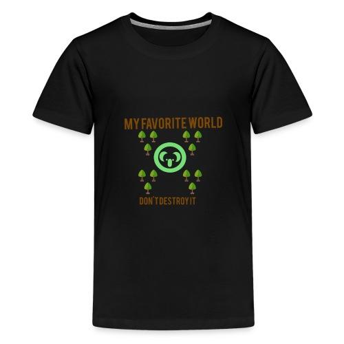 My world - Camiseta premium adolescente