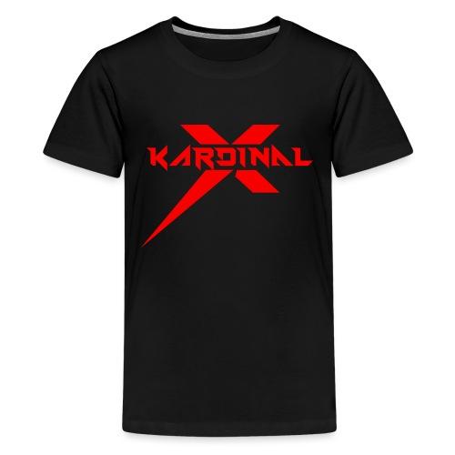 Kardinal X Logo - Teenage Premium T-Shirt