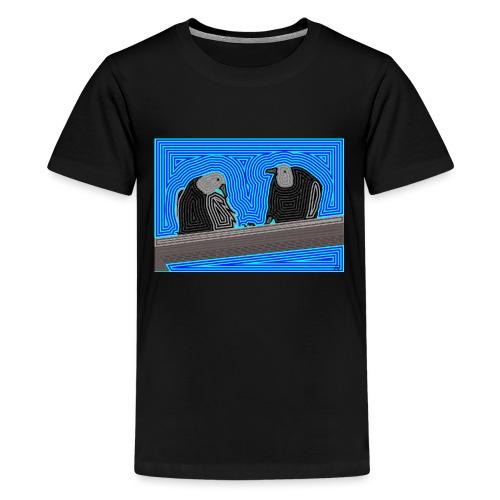 Aves en lineas - Camiseta premium adolescente