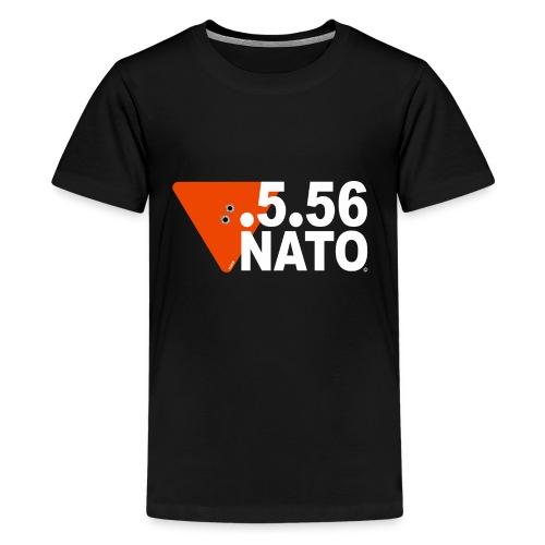 .5.56 NATO BLANC - T-shirt Premium Ado