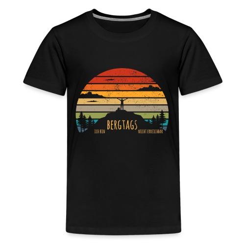 lustige Wanderer Sprüche Shirt Geschenk Retro - Teenager Premium T-Shirt