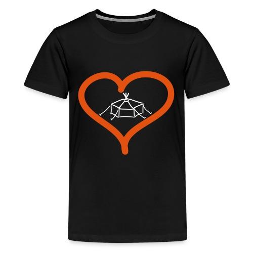 Herzjurte - Teenager Premium T-Shirt