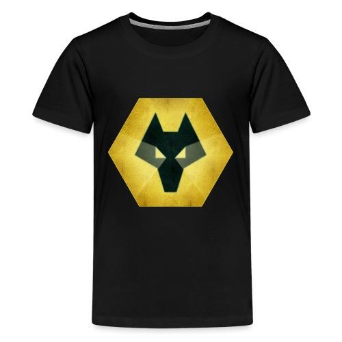 Wolves Logo - Teenage Premium T-Shirt